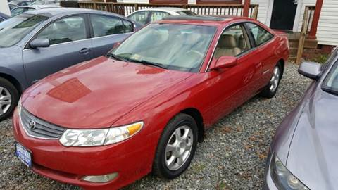 2002 Toyota Camry Solara for sale at Premier Auto Sales Inc. in Newport News VA