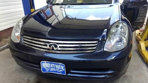 2004 Infiniti G35 for sale at Premier Auto Sales Inc. in Newport News VA