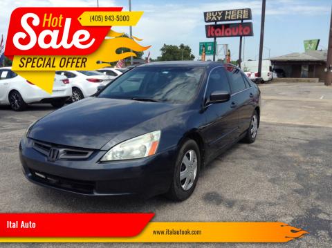 2004 Honda Accord for sale at Ital Auto in Oklahoma City OK