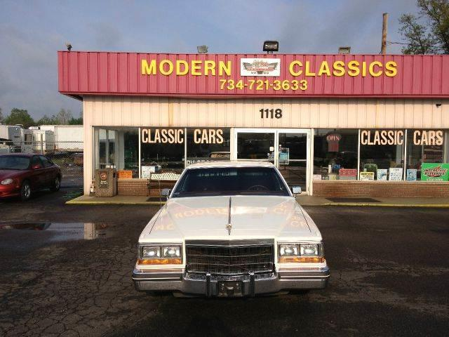 1982 Cadillac DeVille for sale at Modern Classics Car Lot in Westland MI