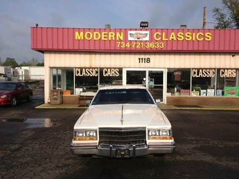 1982 Cadillac DeVille for sale at Modern Classics Car Lot in Westland MI