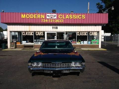 1968 Chevrolet Impala for sale at Modern Classics Car Lot in Westland MI