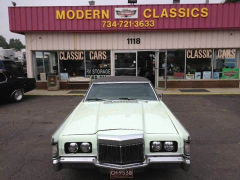 1969 Lincoln Continental for sale at Modern Classics Car Lot in Westland MI