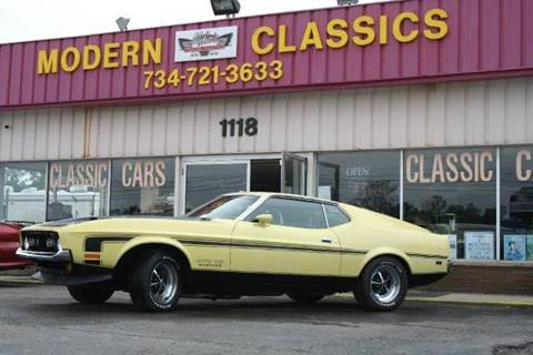 1971 Ford Mustang Boss 351 for sale at Modern Classics Car Lot in Westland MI