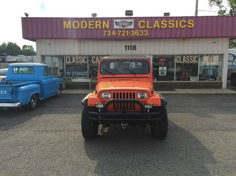 1989 Jeep Wrangler for sale at Modern Classics Car Lot in Westland MI