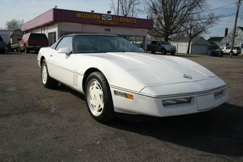 1988 Chevrolet Corvette for sale at Modern Classics Car Lot in Westland MI