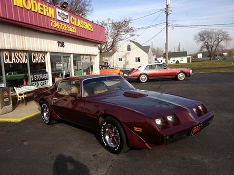 1981 Pontiac Firebird for sale at Modern Classics Car Lot in Westland MI