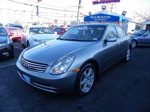 2004 Infiniti G35 for sale at Route 46 Auto Sales Inc in Lodi NJ