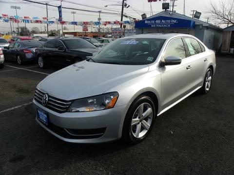 2013 Volkswagen Passat for sale at Route 46 Auto Sales Inc in Lodi NJ