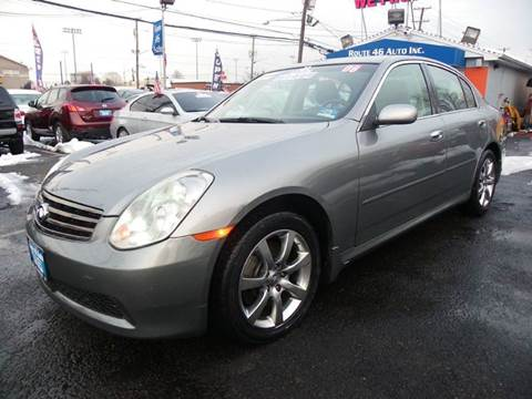 2006 Infiniti G35 for sale at Route 46 Auto Sales Inc in Lodi NJ