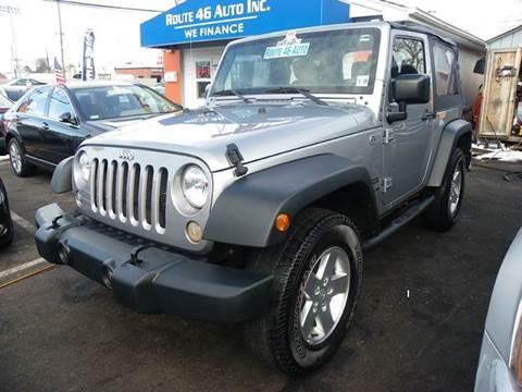 2014 Jeep Wrangler for sale at Route 46 Auto Sales Inc in Lodi NJ