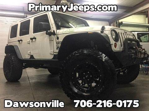 2009 Jeep Wrangler Unlimited for sale at Primary Auto Group Jeeps Hummers Tacomas in Dawsonville GA