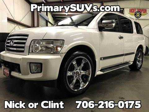 2006 Infiniti QX56 for sale at Primary Auto Group Jeeps Hummers Tacomas in Dawsonville GA