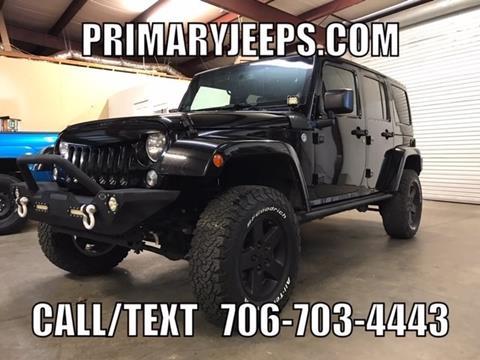 2014 Jeep Wrangler Unlimited for sale in Dawsonville, GA