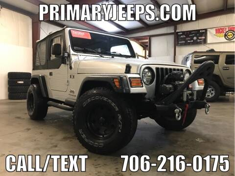 2006 Jeep Wrangler X for sale at Primary Auto Group Jeeps Hummers Tacomas in Dawsonville GA