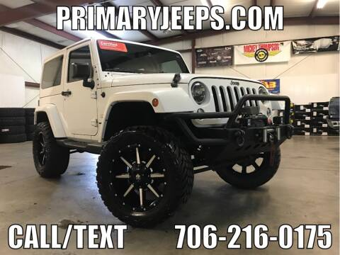 2014 Jeep Wrangler for sale at Primary Auto Group Jeeps Hummers Tacomas in Dawsonville GA