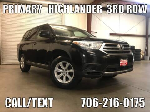 2013 Toyota Highlander for sale at Primary Auto Group Jeeps Hummers Tacomas in Dawsonville GA
