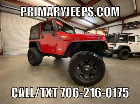 2000 Jeep Wrangler for sale at Primary Auto Group Jeeps Hummers Tacomas in Dawsonville GA