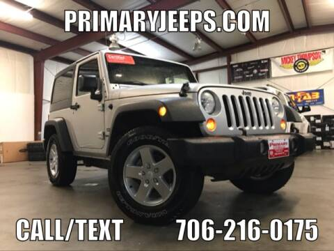 2012 Jeep Wrangler for sale at Primary Auto Group Jeeps Hummers Tacomas in Dawsonville GA