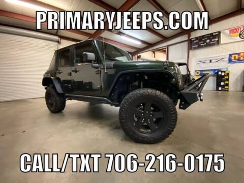 2011 Jeep Wrangler Unlimited for sale at Primary Auto Group Jeeps Hummers Tacomas in Dawsonville GA