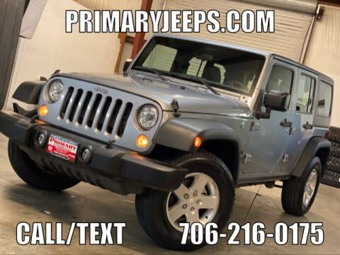 2017 Jeep Wrangler Unlimited for sale at Primary Auto Group Jeeps Hummers Tacomas in Dawsonville GA