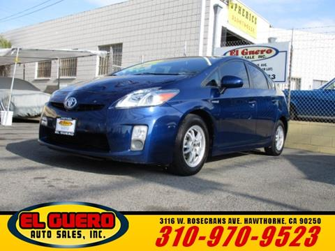 2010 Toyota Prius for sale at El Guero Auto Sale in Hawthorne CA