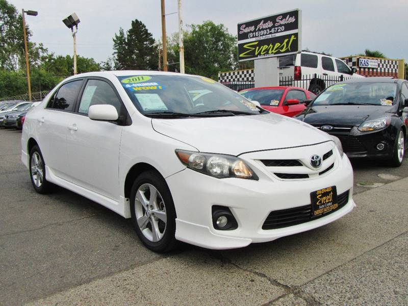 2011 Toyota Corolla S 4dr Sedan 4a In Sacramento Ca Everest Auto