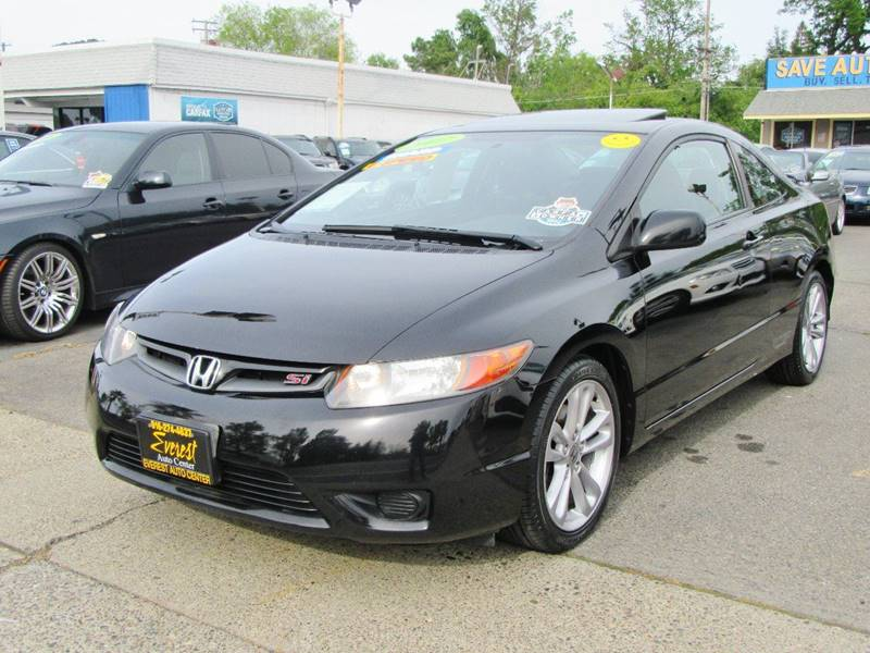 2007 honda civic si 2dr coupe w summer tires in sacramento. Black Bedroom Furniture Sets. Home Design Ideas