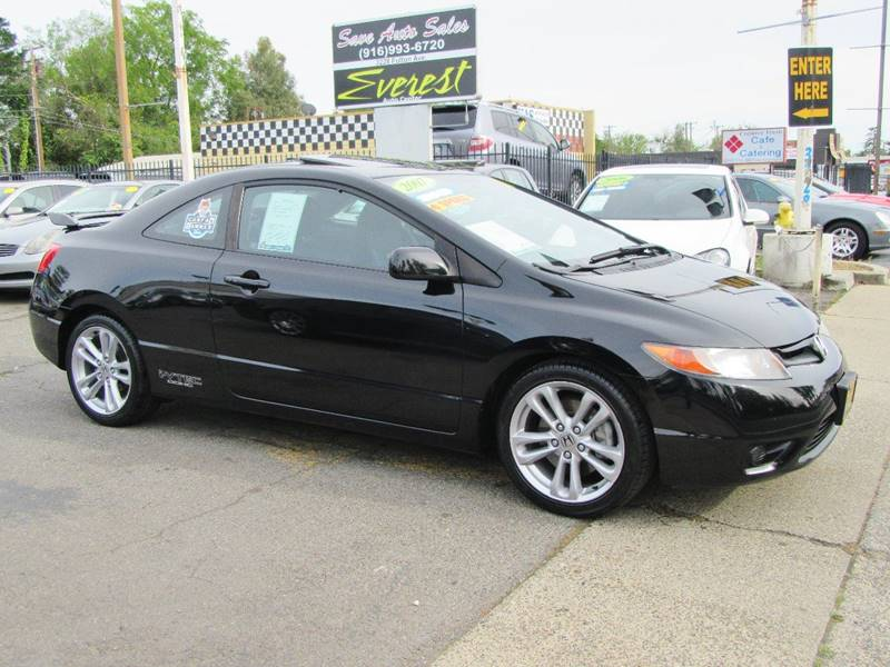 2007 honda civic si 2dr coupe w summer tires in sacramento ca everest auto center. Black Bedroom Furniture Sets. Home Design Ideas