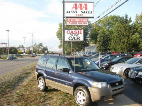 2002 Ford Escape for sale at All State Auto Sales, INC in Kentwood MI