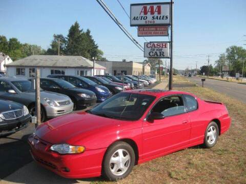 2004 Chevrolet Monte Carlo for sale at All State Auto Sales, INC in Kentwood MI