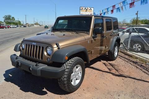 2015 Jeep Wrangler Unlimited for sale in Gadsden, AZ