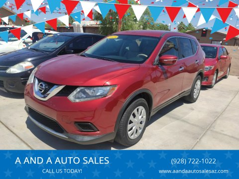 2015 Nissan Rogue for sale at A AND A AUTO SALES in Gadsden AZ