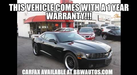 2012 Chevrolet Camaro for sale at Best Buy Wheels in Virginia Beach VA