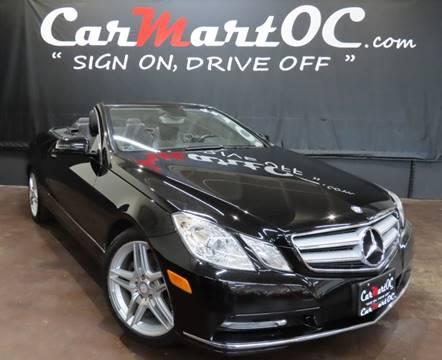 2013 Mercedes-Benz E-Class E 350 for sale at CarMart OC in Costa Mesa, Orange County CA