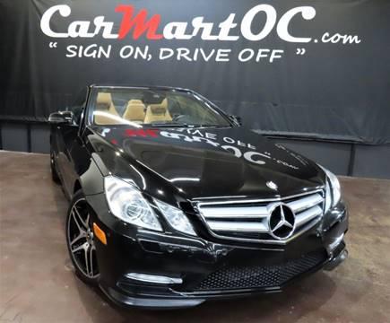 2013 Mercedes-Benz E-Class E 550 for sale at CarMart OC in Costa Mesa, Orange County CA