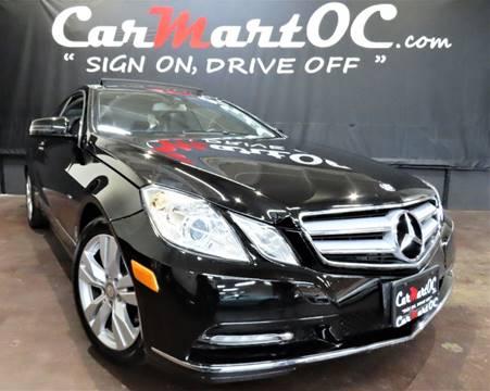 2012 Mercedes-Benz E-Class E 350 for sale at CarMart OC in Costa Mesa, Orange County CA