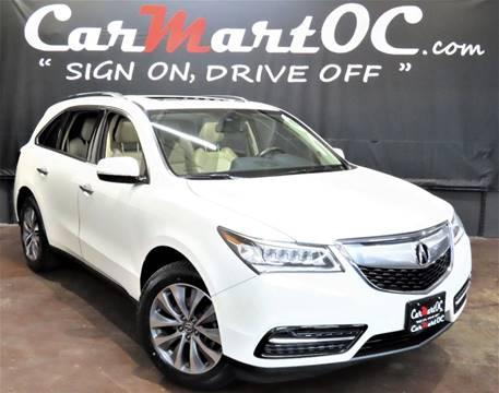 2014 Acura MDX w/Tech for sale at CarMart OC in Costa Mesa, Orange County CA