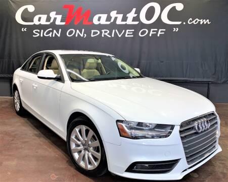 2013 Audi A4 2.0T Premium for sale at CarMart OC in Costa Mesa, Orange County CA