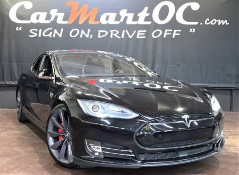 2014 Tesla Model S P85D for sale at CarMart OC in Costa Mesa, Orange County CA