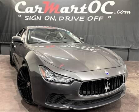 2015 Maserati Ghibli for sale at CarMart OC in Costa Mesa, Orange County CA