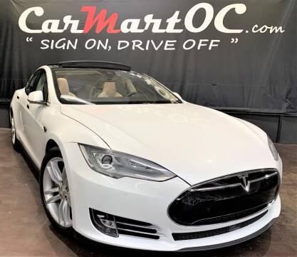 2015 Tesla Model S 70D for sale at CarMart OC in Costa Mesa, Orange County CA