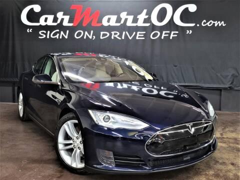 2015 Tesla Model S for sale at CarMart OC in Costa Mesa, Orange County CA