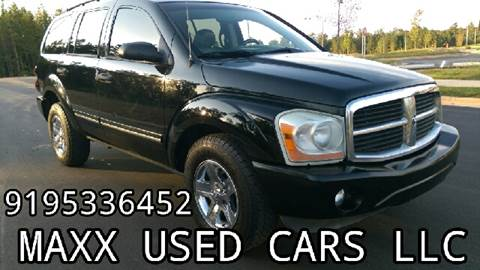 2005 Dodge Durango for sale at Maxx Used Cars in Pittsboro NC