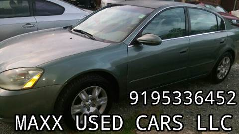 2003 Nissan Altima for sale at Maxx Used Cars in Pittsboro NC