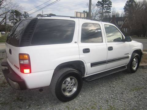 2001 Chevrolet Tahoe for sale at Maxx Used Cars in Pittsboro NC