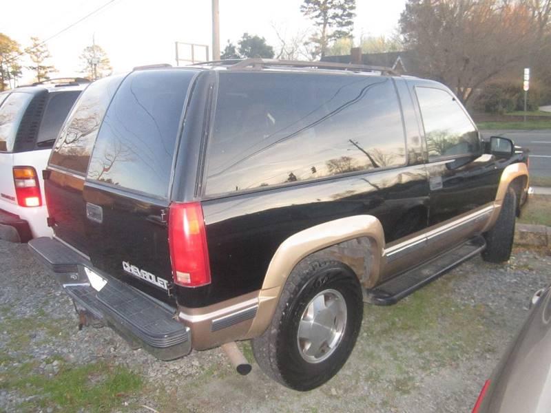 1999 Chevrolet Tahoe 2dr LT 4WD SUV - Pittsboro NC