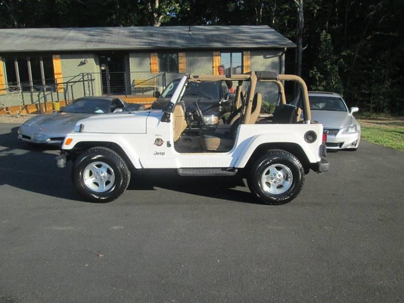 Superior 2000 Jeep Wrangler 2dr Sahara 4WD SUV   Landrum SC