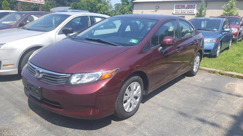 2012 Honda Civic for sale at Central Jersey Auto Trading in Jackson NJ