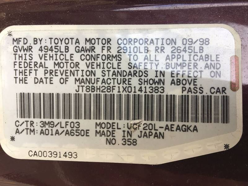 1999 Lexus LS 400 for sale at Central Jersey Auto Trading in Jackson NJ